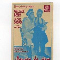 Cine: SANGRE DE CIRCO, CON WALLACE BEERY.. Lote 64283383