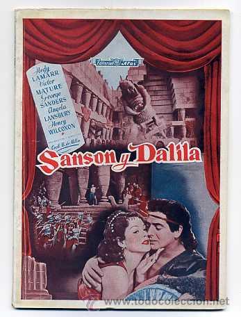 SANSON Y DALILA, VICTOR MATURE. (Cine - Revistas)