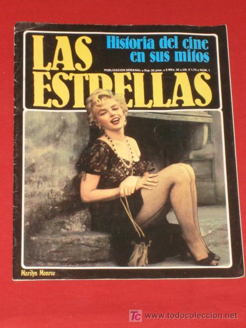 LAS ESTRELLAS, HISTORIA DEL CINE EN SUS MITOS + Nº1 MARILYN MONROE,INDISCUTIBLE SÍMBOLO SEXUAL. (Cine - Revistas - Otros)