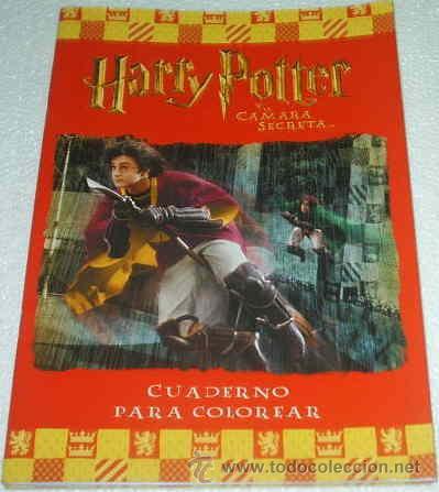 HARRY POTTER Y LA CAMARA SECRETA - CUADERNO PARA COLOREAR - MUY BONITO- SIN USO- LEER (Cine - Revistas - Cámara)