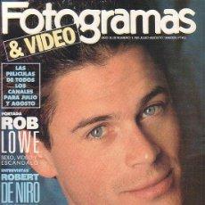 Cinéma: FOTOGRAMAS Nº 1765 - EDITADA , JULIO - AGOSTO 1990. Lote 13071005
