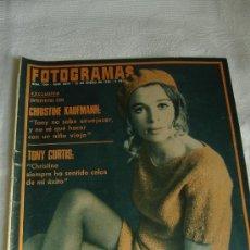 Cine: FOTOGRAMAS Nº 1004 ENERO 1968 ,PORT. JULIE CHRISTIE, INTERIOR TONY CURTIS, ARTURO FERNANDEZ. Lote 27585810