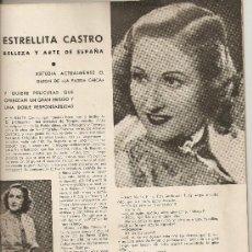 Cine: REVISTA DE CINE AÑO 1942 ESTUDIOS MADRILEÑOS ESTRELLITA CASTRO MAGDA SCHNEIDER D DARRIEUX A VICO. Lote 13327322