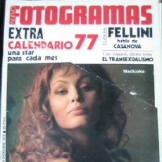 Cine: FOTOGRAMAS Nº 1469 EXTRA - NADIUSKA - FELLINI. Lote 13427897