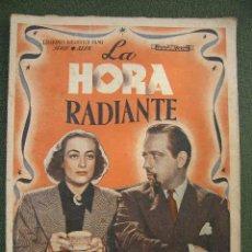 Cine: LA HORA RADIANTE - JOAN CRAWFORD Y MELVYN DOUGLAS EDICIONES FILMOTECA FILMS. Lote 21700510