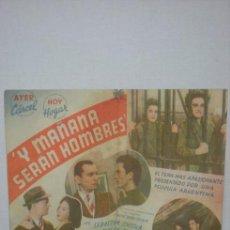Cine: Y MAÑANA SERAN HOMBRES. Lote 13645245