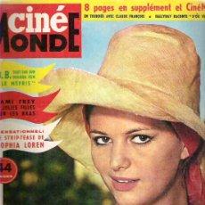 Cine: CINE MONDE - AGOSTO 1963. Lote 14569646