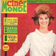Cine: CINE MONDE - JAMES DEAN / SOPHIA / ESPEIAL SINATRA - SEPT 1963. Lote 14572266
