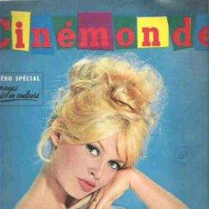Cine: CINE MONDE - NUMERO ESPECIAL- OCT 1959 *** BRIGITTE BARDOT - LES SIRENES DE LA NOUVELLE VAGUE / RAF. Lote 14580640