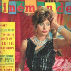 Cine: CINE MONDE - Nº 1363 SEPT 1960 ** BRIGITTE BARDOT / SOPHIA LOREN / TONY PERKINS/ VADIM. Lote 18892174