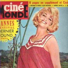Cine: CINE MONDE - Nº1503 - CANNES FESTIVAL 1963 ** MARGARET LEE / TAINA BERYL / STEVE REEVES. Lote 18892175