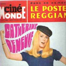 Cine: REVISTA CINE MONDE - Nº 1733 MARDI 1968 - CATHERINE DENEUVE / MADENOISELLE CINEMA FRANCAIS. Lote 15429630