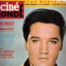 Cine: REVISTA CINE MONDE - Nº 1538- ELVIS PRESLEY / HUIS CLOS/ ICHEL LE ROYER / SPARTACO/WAYNE --1964. Lote 14594312