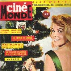 Cine: CINE MONDE - Nº1533 ** CICIEMBRE 1963 ** ANN MARGARET / YUL BRYNNER ET CHAKIRIS / BELMONDO / JEANNE. Lote 14633346