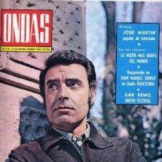 Cine: ONDAS Nº415 (MARISOL, SERRAT, TOM JONES,...). LA GRAN REVISTA DE LA RADIO. Lote 14758472