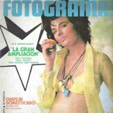 Cine: FOTOGRAMAS - Nº1226 ARIL DE 1972 ** CHAPLIN / EMMA COHEN / MARILU TOLO. Lote 19477937