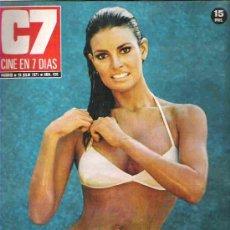 Cine: C7 - CINE EN SIETE DIAS - JULIIO 1972 ** RAQUEL WELCH. Lote 19154211