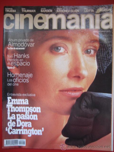 REVISTA CINEMANÍA Nº 1 OCTUBRE 1995, EMMA THOMPSON, JAVIER BARDEM, ALMODOVAR, TOM HANKS. (Cine - Revistas - Cinemanía)