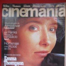 Cine: REVISTA CINEMANÍA Nº 1 OCTUBRE 1995, EMMA THOMPSON, JAVIER BARDEM, ALMODOVAR, TOM HANKS.. Lote 81118703