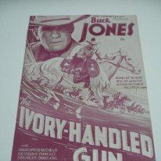Cine: CINE . BUCK JONES IN THE IVORY HANDLED GUN . UNIVERSAL PICTURE 1935. 6 PP. FOTOGRAFIAS .29X46 . Lote 20268725