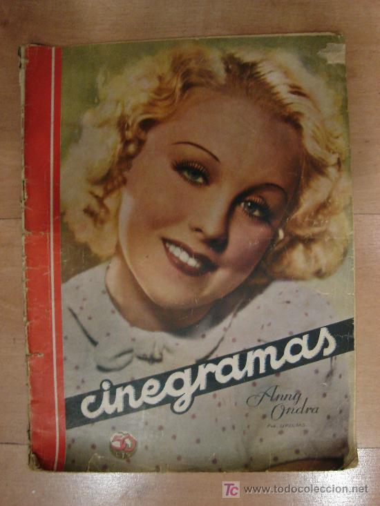REVISTA CINEGRAMAS AÑO III. Nº 87. MADRID 10 DE MAYO DE 1936 (Cine - Revistas - Cinegramas)