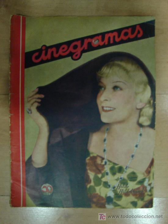 REVISTA CINEGRAMAS AÑO II. Nº 61. MADRID 10 DE NOVIEMBRE DE 1935 (Cine - Revistas - Cinegramas)