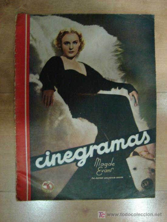 REVISTA CINEGRAMAS AÑO III. Nº 86. MADRID 3 DE MAYO DE 1936 (Cine - Revistas - Cinegramas)