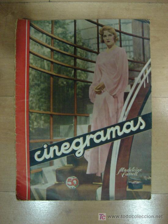 REVISTA CINEGRAMAS AÑO II. Nº 34. MADRID 5 DE MAYO DE 1935 (Cine - Revistas - Cinegramas)