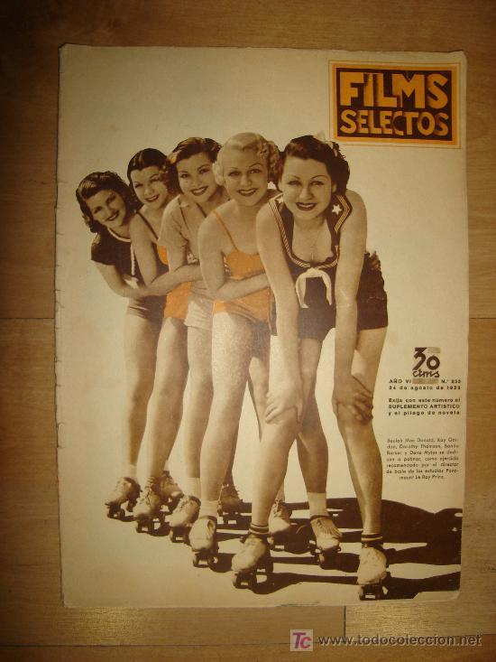 REVISTA FILMS SELECTOS. AÑO VI. Nº 253. MADRID 24 DE AGOSTO DE 1935 (Cine - Revistas - Films selectos)