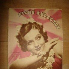 Cine: REVISTA FILMS SELECTOS. AÑO VII. Nº 281. MADRID 7 DE MARZO DE 1936. Lote 15147162