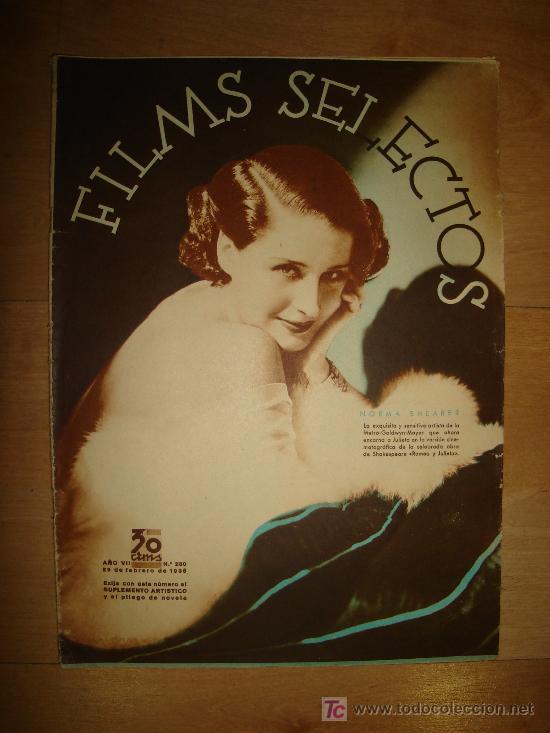 REVISTA FILMS SELECTOS. AÑO VII. Nº 280. MADRID 29 DE FEBRERO DE 1936 (Cine - Revistas - Films selectos)