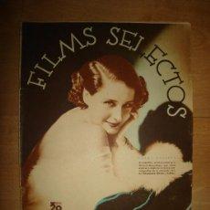 Cine: REVISTA FILMS SELECTOS. AÑO VII. Nº 280. MADRID 29 DE FEBRERO DE 1936. Lote 149630852