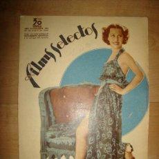 Cine: REVISTA FILMS SELECTOS. AÑO VII. Nº 275. MADRID 25 DE ENERO DE 1936. Lote 15147195