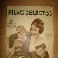 Cine: REVISTA FILMS SELECTOS. AÑO VI. Nº 254. MADRID 31 DE AGOSTO DE 1935. Lote 15147211