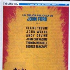 Cine: 17 CARTELES DE CINE-LA DILIGENCIA Y OTROS. Lote 27200418