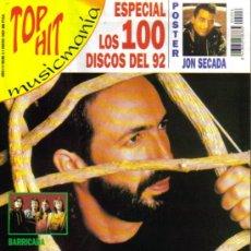 Cinema: MAGAZINE TOP HIT MUSICMANIA (JUAN LUIS GUERRA) 1993 Nº6 SPAIN. Lote 111229588