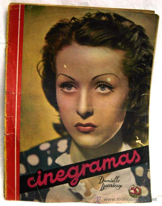 CINEGRAMAS Nº 47 DANIELLE DARRIEUX 4 AGOSTO 1935 REVISTA CINEMATOGRÁFICA (Cine - Revistas - Cinegramas)
