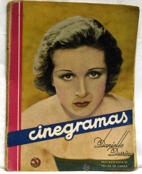 CINEGRAMAS Nº DANIELLE DARRIEUX 1935 REVISTA CINEMATOGRÁFICA (Cine - Revistas - Cinegramas)
