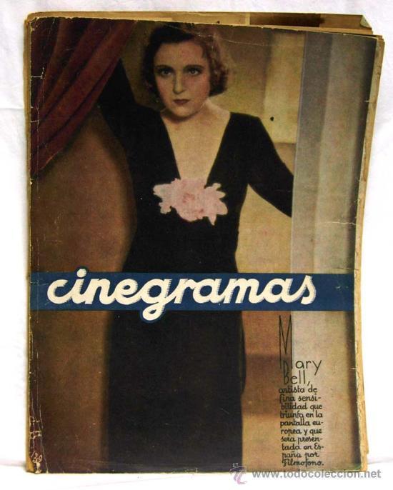 CINEGRAMAS Nº MARY BELL 1934 REVISTA CINEMATOGRÁFICA (Cine - Revistas - Cinegramas)