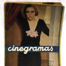 Cine: CINEGRAMAS Nº MARY BELL 1934 REVISTA CINEMATOGRÁFICA. Lote 15262950