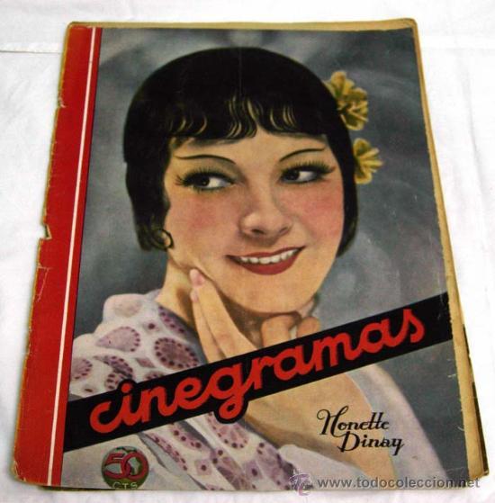CINEGRAMAS Nº HONETTE DINAY 1935 REVISTA CINEMATOGRÁFICA (Cine - Revistas - Cinegramas)