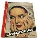 Cine: PORTADA CINEGRAMAS Nº JESSIE MATTHEWS 1935 REVISTA CINEMATOGRÁFICA. Lote 15263089