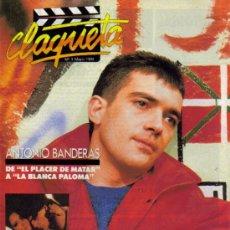 Cine: MAGAZINE CLAQUETA (ANTONIO BANDERAS) 1989 Nº3 SPAIN. Lote 15451109