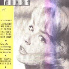 Cine: RADIOCINEMA:AÑO1961 Nº480 PORTADA DE URSULA LILLIG,CONTRA PORTADA CLAUDIA MORI. Lote 15504798