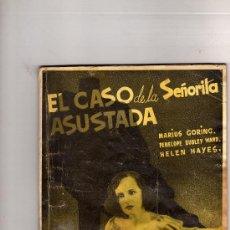 Cine: EL CASO DE LA SEÑORITA ASUSTADA,EDICIONES RIALTO,COLECCION CINE.JULIO DE 1943-59 PAGINAS. Lote 23264801