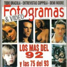 Cine: MAGAZINE FOTOGRAMAS & VIDEO (LOS MAS DEL 92 Y LAS 75 DEL 93) 1993 Nº1793 SPAIN. Lote 15570387
