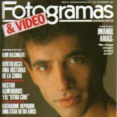 Cine: MAGAZINE FOTOGRAMAS & VIDEO (IMANOL ARIAS) 1987 Nº1735 SPAIN. Lote 15950733