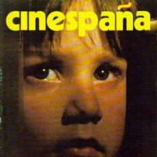 Cine: MAGAZINE CINESPAÑA (SPECIAL CANNES FILM FESTIVAL ISSUE). Lote 16077007