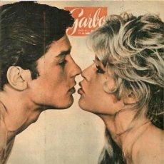 Cine: BRIGITTE BARDOT / ALAIN DELON REVISTA GARBO AÑO 1962 ALAIN DELON / ROMY SCHNEIDER REPORTAJE DE 2 PA . Lote 16086156