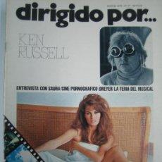 Cine: DIRIGIDO POR Nº 31 - KEN RUSSELL - CINE PORNOGRAFICO - CARLOS SAURA DREYER RACHEL WELCH. Lote 16146930